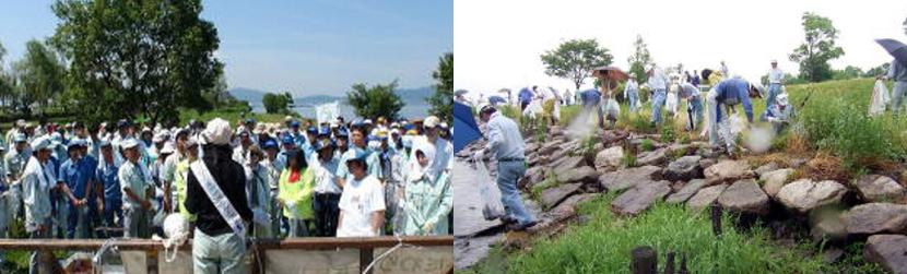 びわ湖の環境保全活動に参加